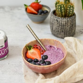 Sprinkle Some organic beauty foods. Wild Blueberries, acai, flaxseed, moringa